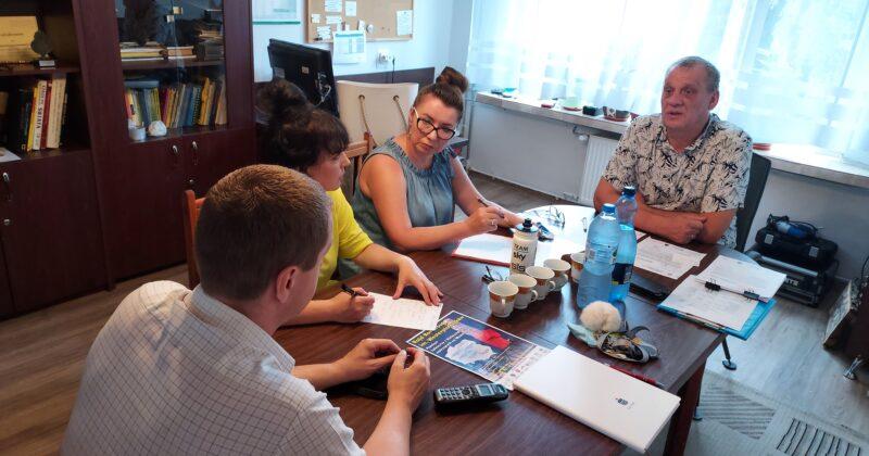 Lipcowe posiedzenie zespołu wsparcia  w 13-3 OSiW w Pińczowie